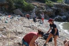 Akcija čišćenja uvale Grabova NP Mljet